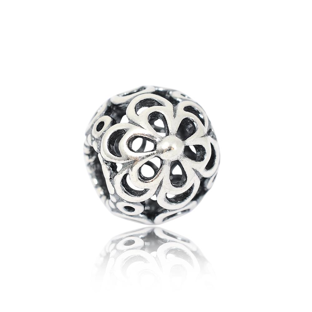 Pandora 潘多拉 鏤空花朵 純銀墜飾 串珠