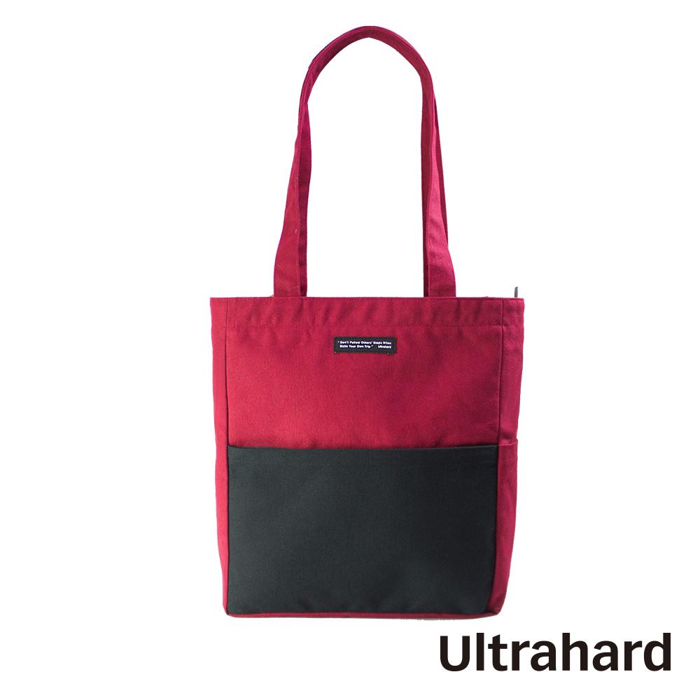 Ultrahard Classic Motto經典格言系列 A4肩背包-步伐(紅黑)