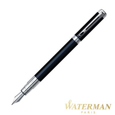 WATERMAN 透視系列 黑桿白夾 鋼筆