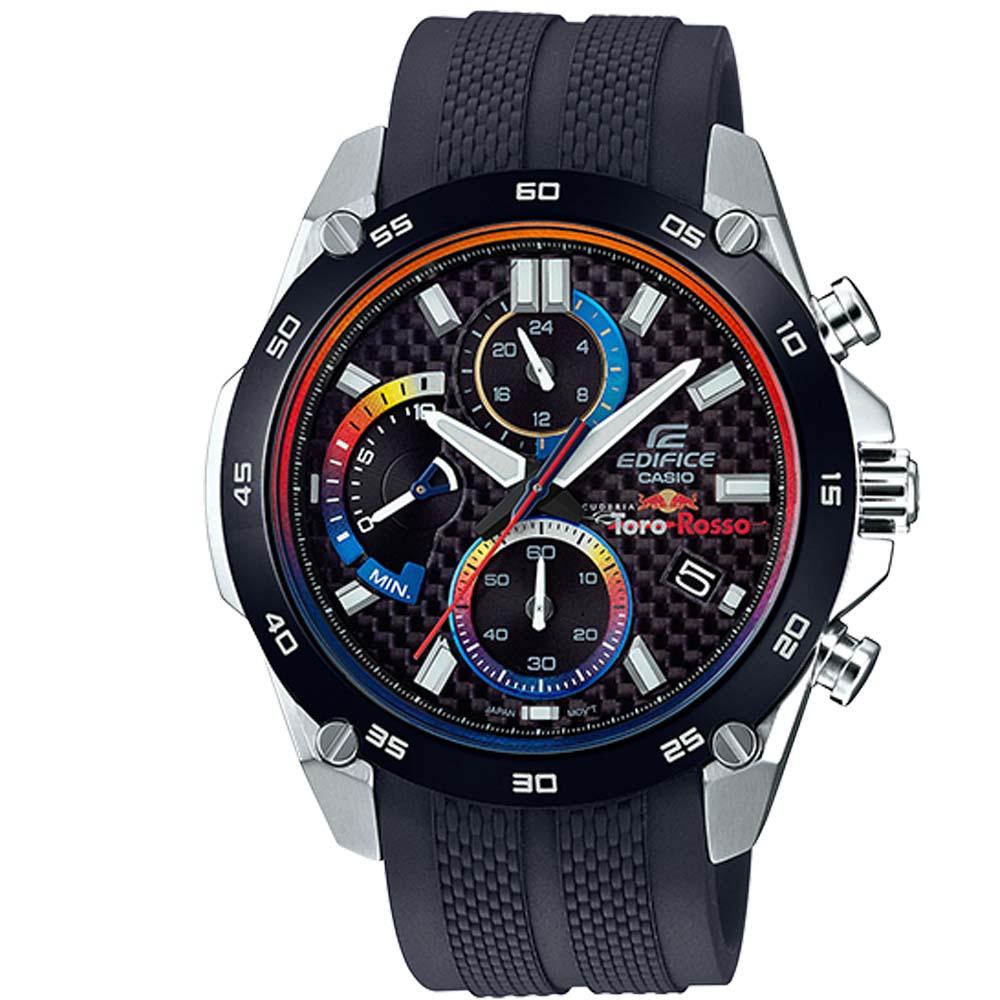 EDIFICE熱鍍漸層技術藍色離子IP賽車限量聯名錶(EFR-557TRP-1)46mm