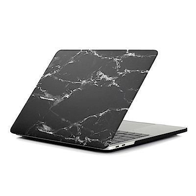 For MacBook Air 13.3吋筆電水貼殼-黑白大理石紋(A1466/A1369