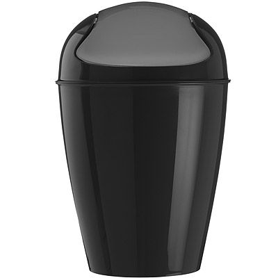 KOZIOL 搖擺蓋垃圾桶(黑M)