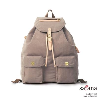satana-休閒束口後背包-松樹皮