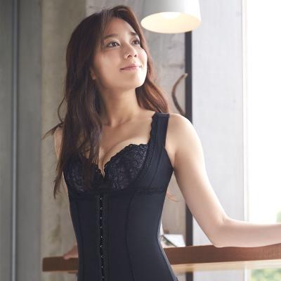 蕾黛絲-挺胸纖腰長束衣 M-EEL (黑)