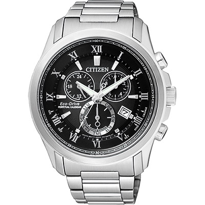 CITIZEN 亞洲限量光動能萬年曆腕錶(BL5540-53E)-黑/43mm
