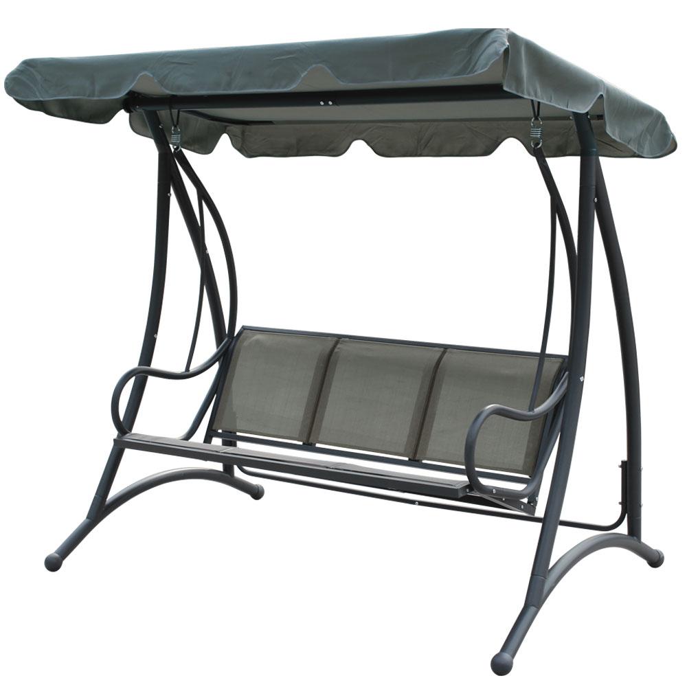邏爵家具LOGIS-庫伯三人座鞦韆搖椅吊椅休閒椅