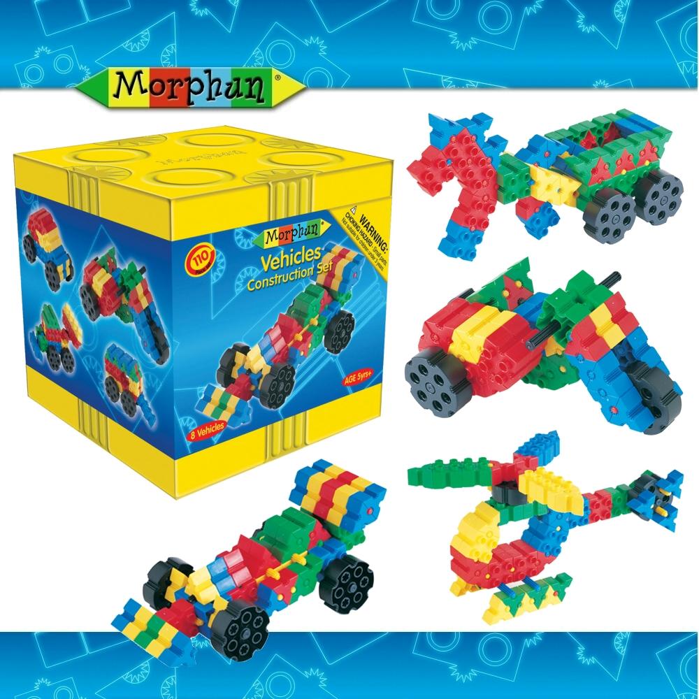 英國Morphun魔法創意積木-交通工具造型組110片