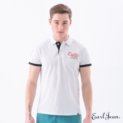 Earl Jean 品牌經典POLO衫-白-男