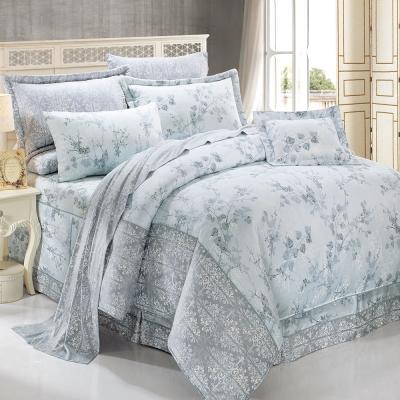 鴻宇HongYew 莫代爾-派翠西亞-藍 雙人加大七件式兩用被床罩組