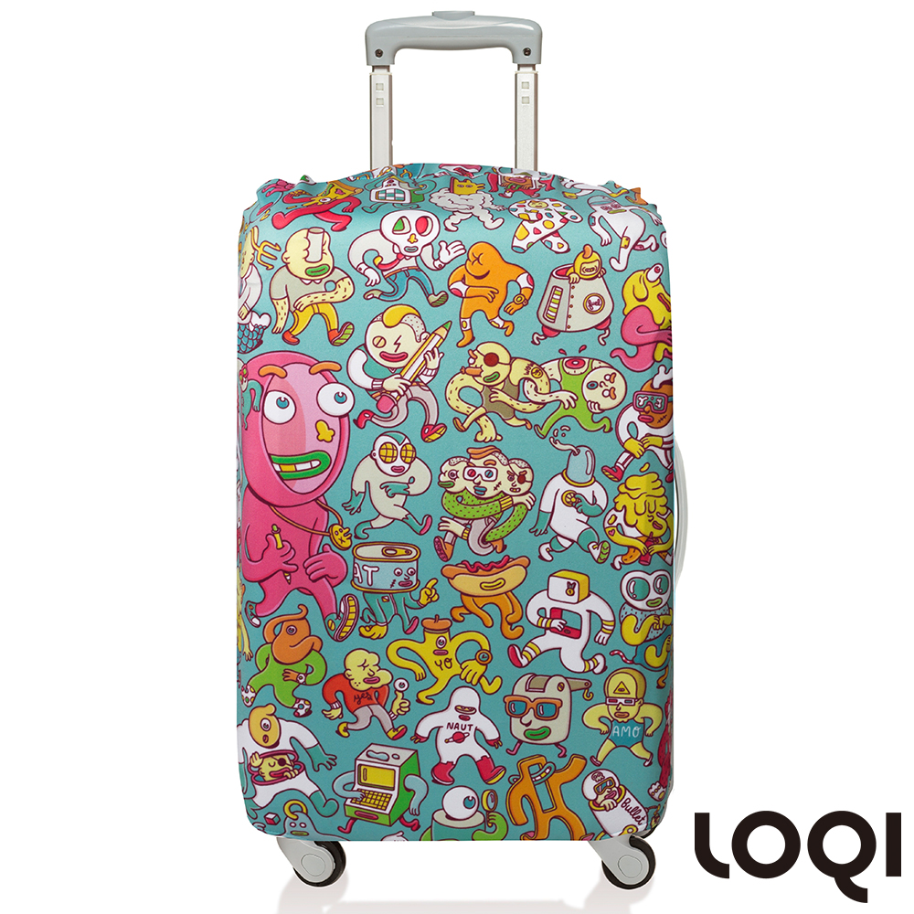 LOQI 行李箱套│-漫畫M號 適用22-27吋行李箱保護套