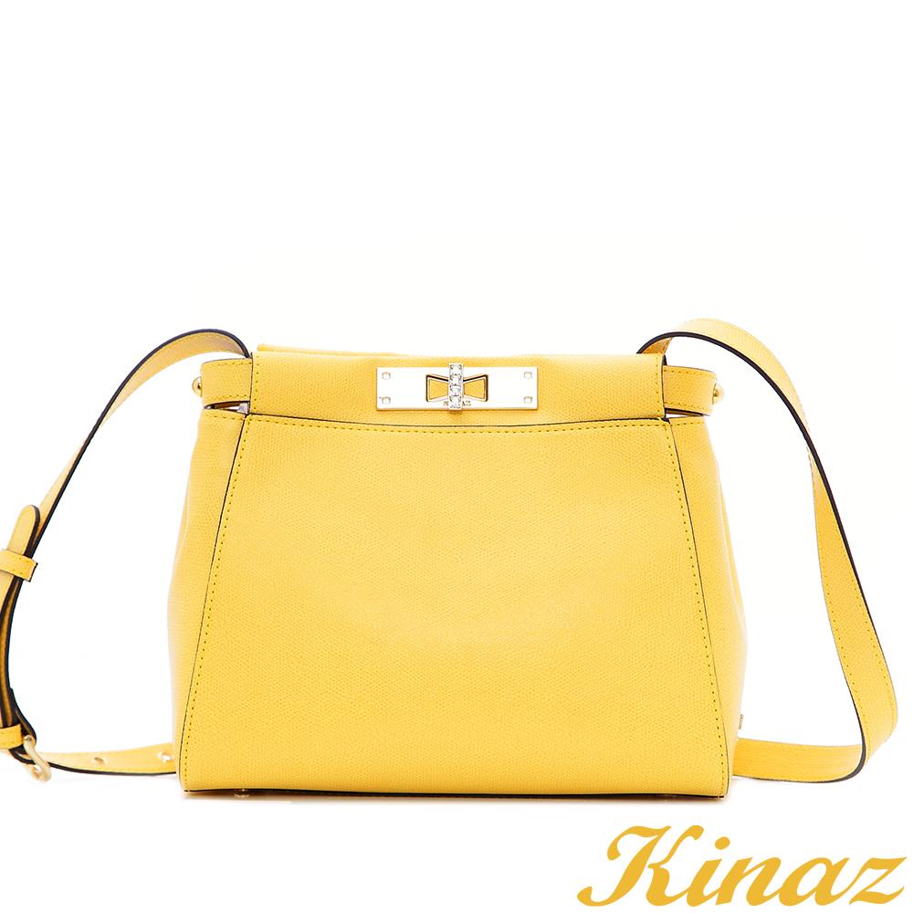 KINAZ 長頸鹿~熱情派對2way斜背包-亮麗黃