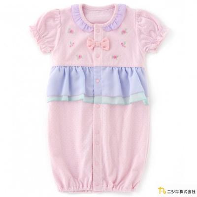 Nishiki 日本株式會社 粉色繡花雪紡兩穿式連身衣