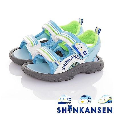 新幹線 減壓防滑運動休閒涼鞋童鞋-水