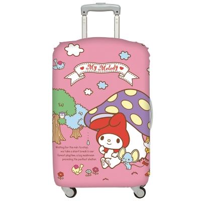 LOQI行李箱套 美樂蒂 蘑菇M號 適用22-27吋行李箱保護套