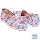 TOMS 條紋花卉懶人鞋-女款(藍)