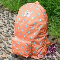 iSPurple 動物馬卡龍 摺疊防水後背包 橘松鼠