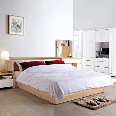 群居空間 莉絲5尺掀床房間組 床頭箱+掀床+床墊 橡木色