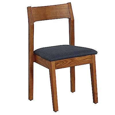 AT HOME-布蘭妮胡桃實木耐磨亞麻布餐椅(45*46*83cm)兩色可選
