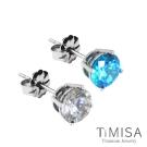 TiMISA  奢華晶鑽(雙色)純鈦耳環一對