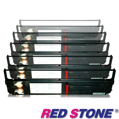 RED STONE for PRINTEC PR836/OKI393黑色色帶組(1組6入)