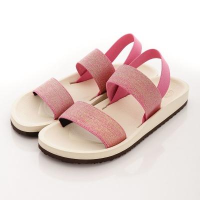 WAVE3【女】台灣製女金蔥鬆緊帶涼鞋~粉紅