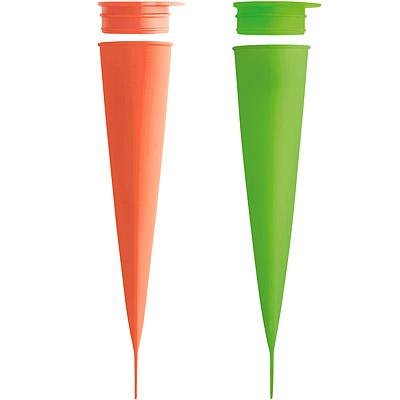 LEKUE 噗噗冰棒模(綠橘2入)