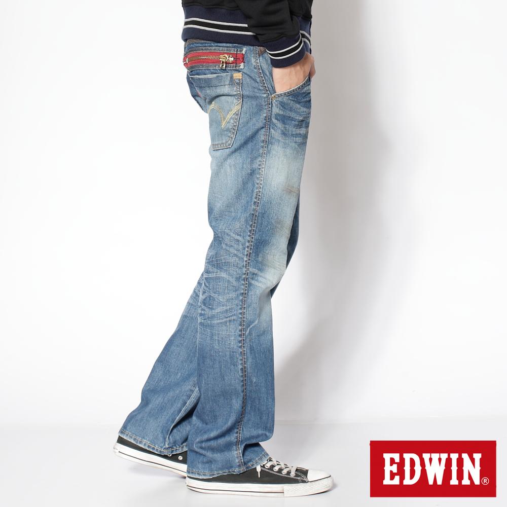 EDWIN503 B.T印地安金蔥中直筒牛仔褲-男款(漂淺藍)