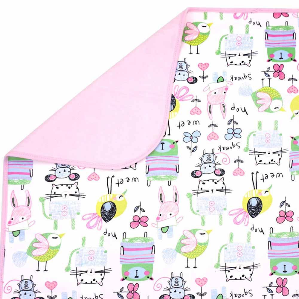 Baby unicorn粉紅動物多功能防水隔尿墊野餐墊