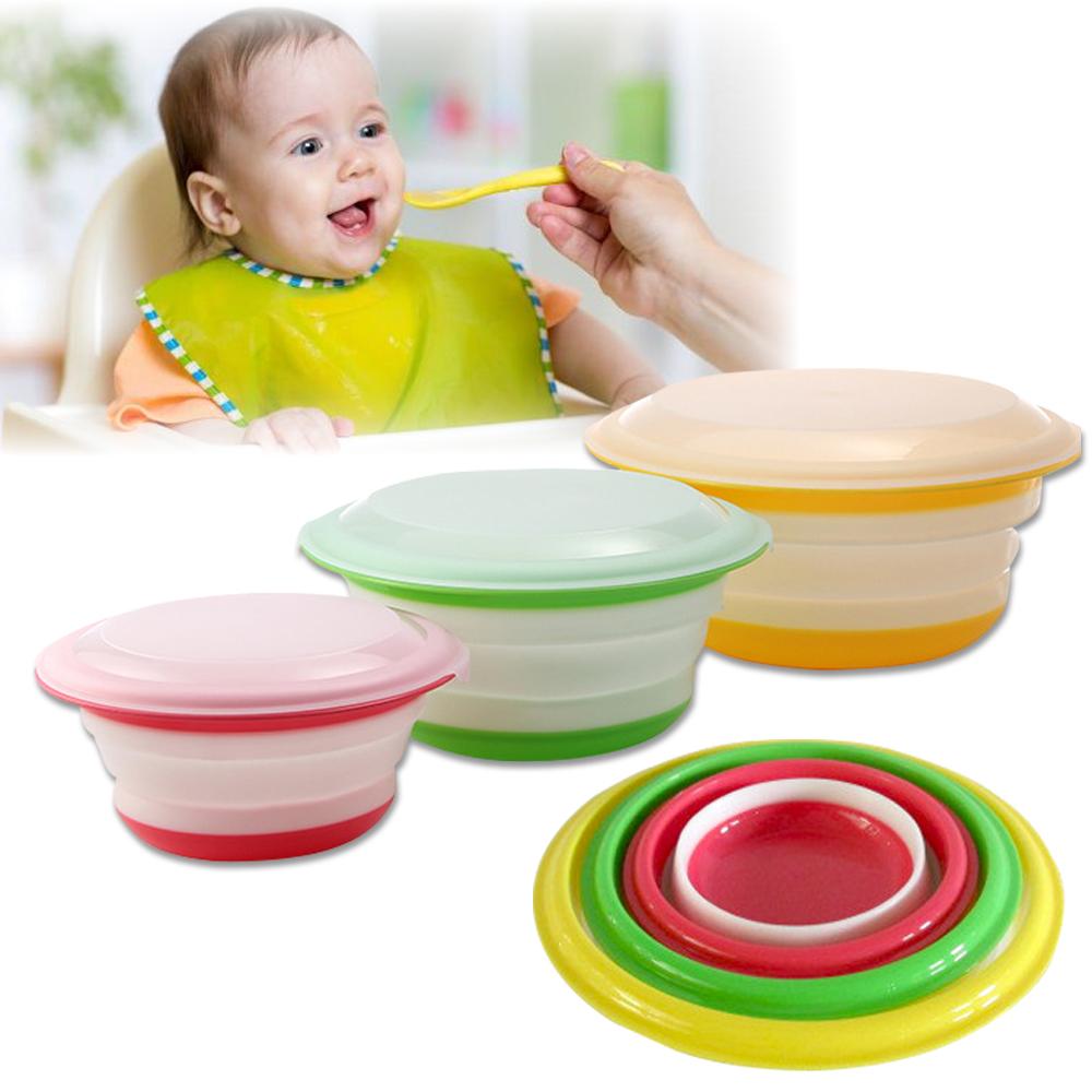 副食品專用 伸縮 多功能折疊碗 外出旅行必備 (共3種尺寸)