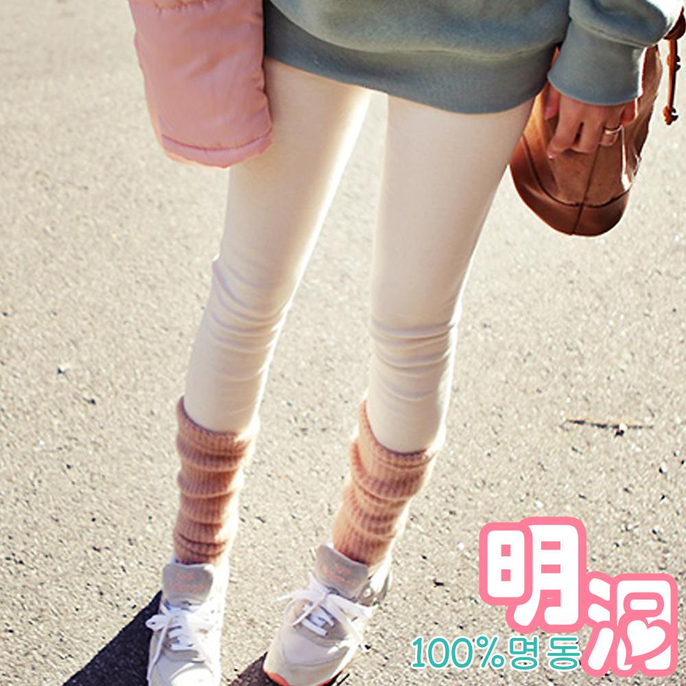 針織襪套拼接假兩件內搭褲 (共四色)-100%明洞