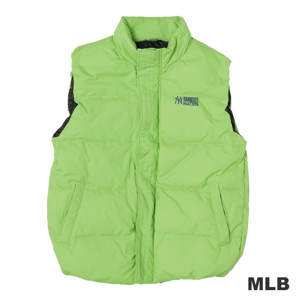 MLB-紐約洋基隊保暖立領羽絨背心-淺綠(男)