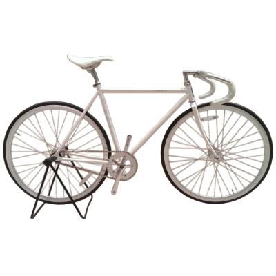 FUJI-Feather鉻鉬鋼單速車-白色