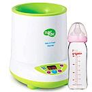 Nac Nac 微電腦多功能溫奶器+貝親 寬口母乳實感玻璃奶瓶240ml(顏色隨機)
