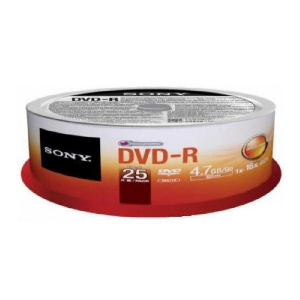 SONY DVD-R 16X 燒錄片 (25片)