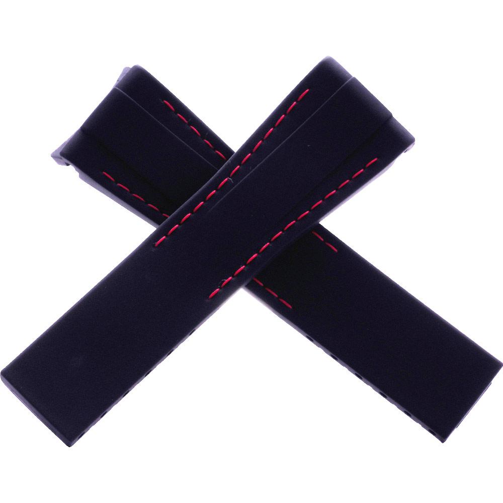 瑞士頂級Rubber B橡膠帶套組-勞力士DAYTONA迪通拿專用-20*18黑邊紅線
