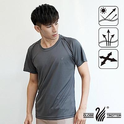 【遊遍天下】台灣製中性款透氣圓領吸濕排汗機能衫S0707深灰