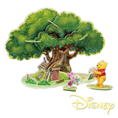 凡太奇美國品牌迪士尼DISNEY 3D立體模型組合屋-維尼樹屋