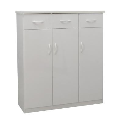 品家居 歐凡3.2尺環保塑鋼三門鞋櫃(五色可選)-97x33x117cm-免組