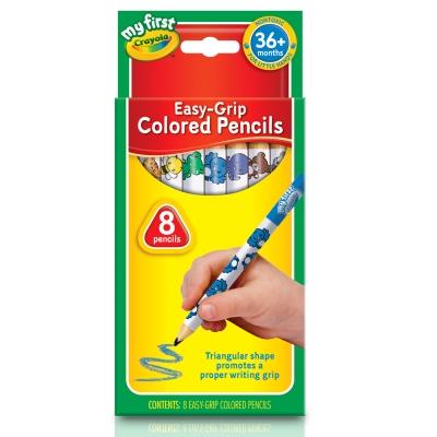 美國crayola 幼兒8色三角彩色鉛筆(3Y+)
