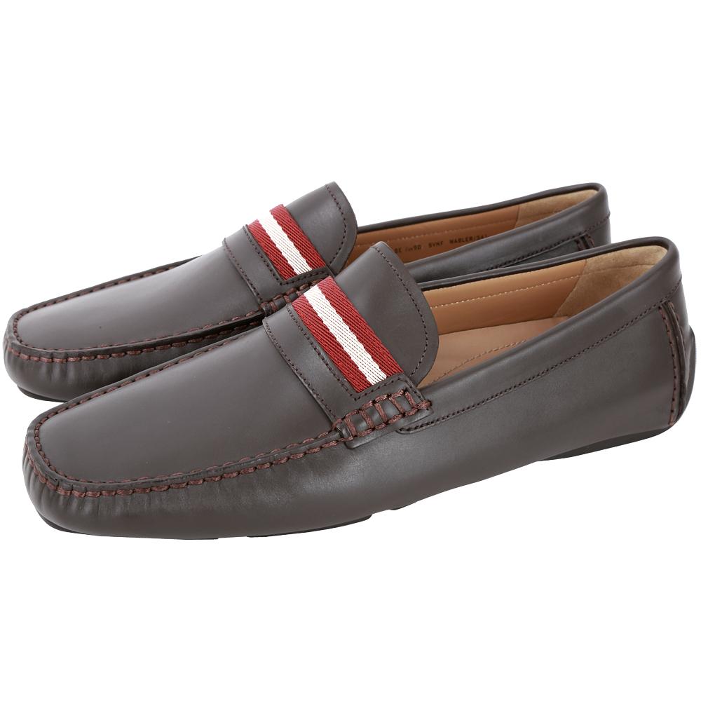 BALLY WABLER 經典織帶小牛皮樂褔鞋(咖啡色)