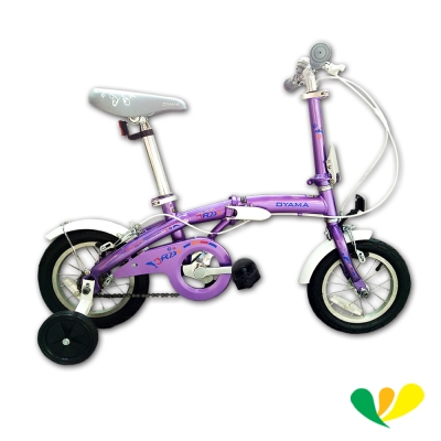 OYAMA歐亞馬 兒童折疊車<b>12</b>吋單速高碳鋼 (葡萄紫) JR200