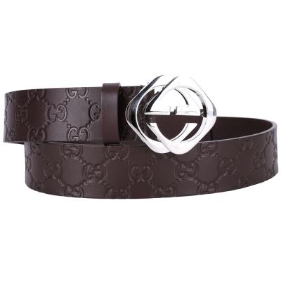 GUCCI-Guccissima-壓紋牛皮菱形釦環