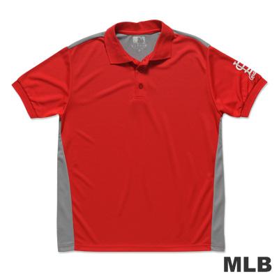 MLB-聖路易紅雀隊修身撞色快排POLO衫-紅男