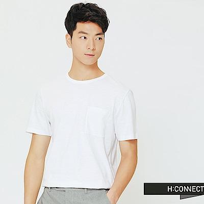 H:CONNECT 韓國品牌 男裝-舒適感小口袋上衣-白