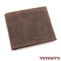 Vensers 小牛皮潮流個性皮夾~NB5302812咖啡短夾