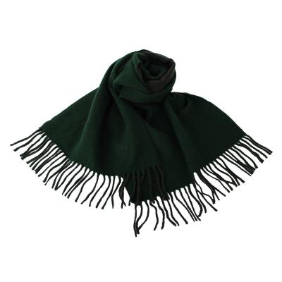 agnes b. 小b.系列流蘇圍巾披肩-深綠
