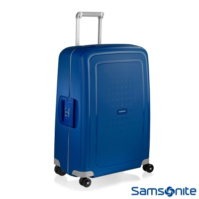 Samsonite新秀麗 25吋S'CURE四輪PP硬殼TSA扣鎖行李箱(海軍藍)