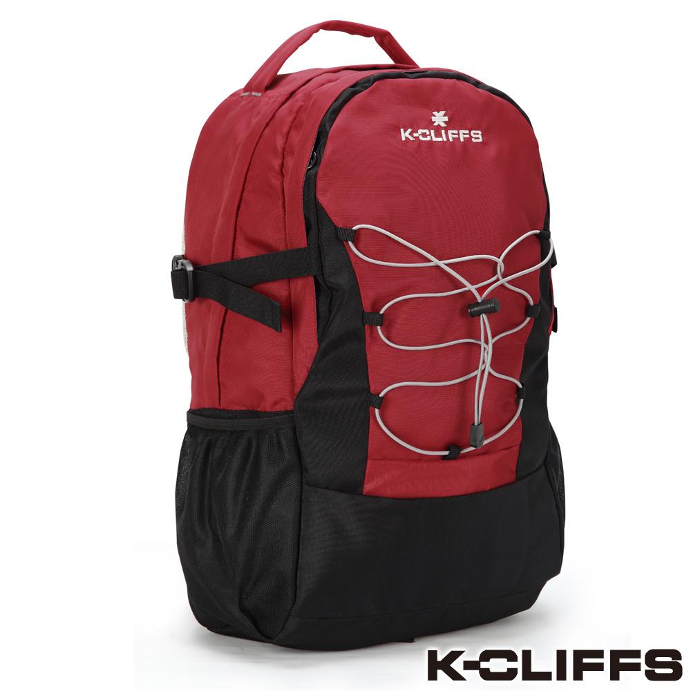 美國K-CLIFFS - 簡約輕巧雙肩後背包-時尚紅
