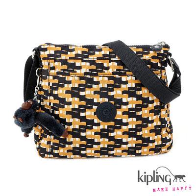 Kipling-漾彩印花休閒側背包