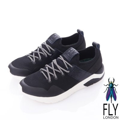 Fly London(男)-SPEED 急速風潮 都會輕量運動鞋-全速黑